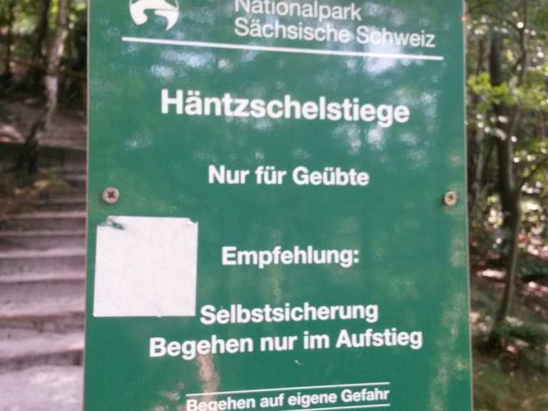 Klettergurt Empfehlung : Häntzschelstiege bad schandau sächsische schweiz wanderweg komoot