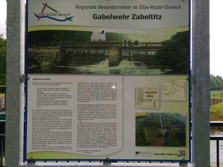 Großes Gabelwehr und Grab des unbekannten Soldaten - Großenhain ...