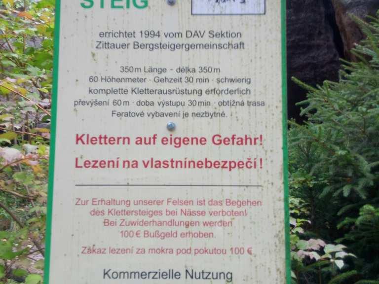 Kletterausrüstung Zittau : Nonnenfelsen und zigeunerstuben jonsdorf görlitz wanderweg komoot