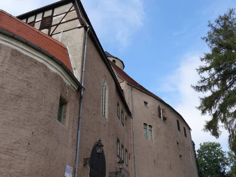 Teichschänke mit Bl.auf d.Burg – Burg Schönfels Runde von Zwickau ...
