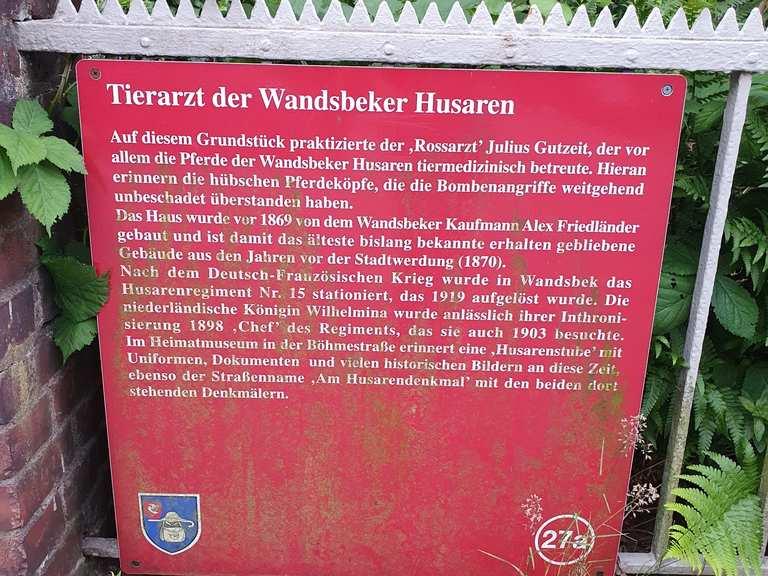 Tierarzt der Wandsbeker Husaren - Hamburg, Germany | Hiking Tips & Photos |  Komoot