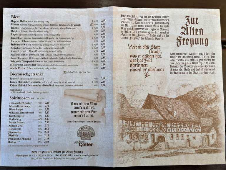 Biergarten Der Brauerei Goller Zeil A Main Hassberge Wandertipps Fotos Komoot