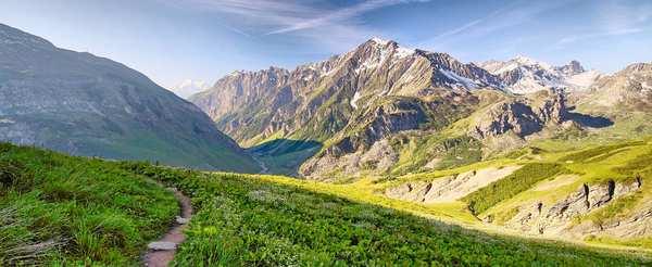 Auf Singletrails um den Mont Blanc