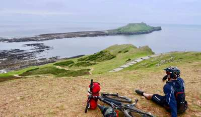 Coastal mountain biking in the South of England