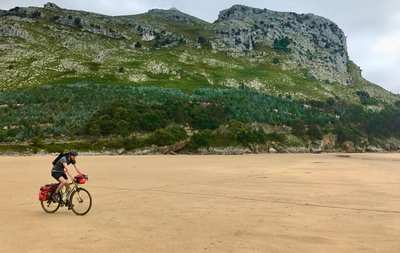 Bikepacking along the coast in northern Spain