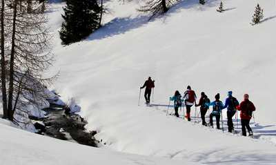Snowshoe magic in East Tyrol