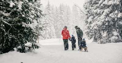 Einzigartige Winterwanderungen in Lech Zürs