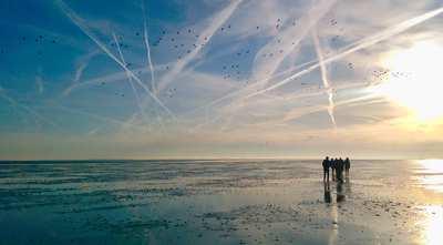 Wandern im Wattenmeer der Nordsee
