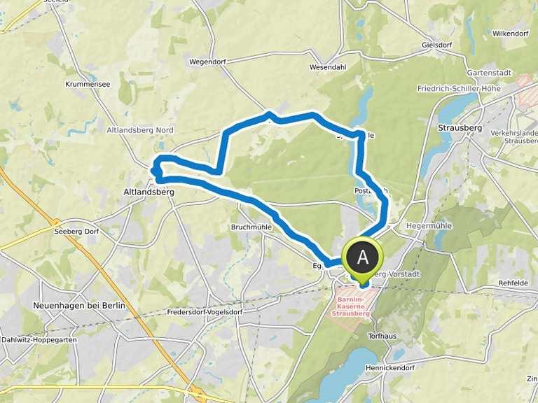 Altlandsberg Bötzsee Runde Von Strausberg Fahrradtour Komoot