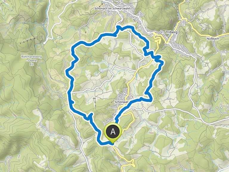 Singletrail map schwarzwald