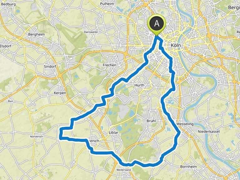 Fahrrad Routenplaner Köln