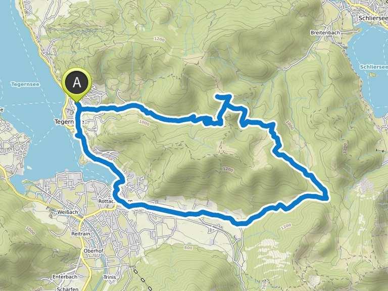 Singletrail map tegernsee