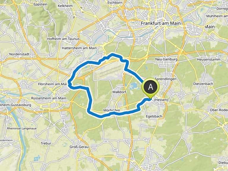 Fahrradtour Hessen